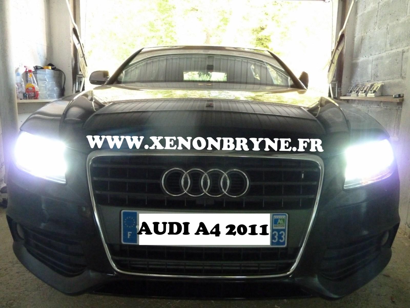 photo de réalisation de l'installation xenon sur Audi A4