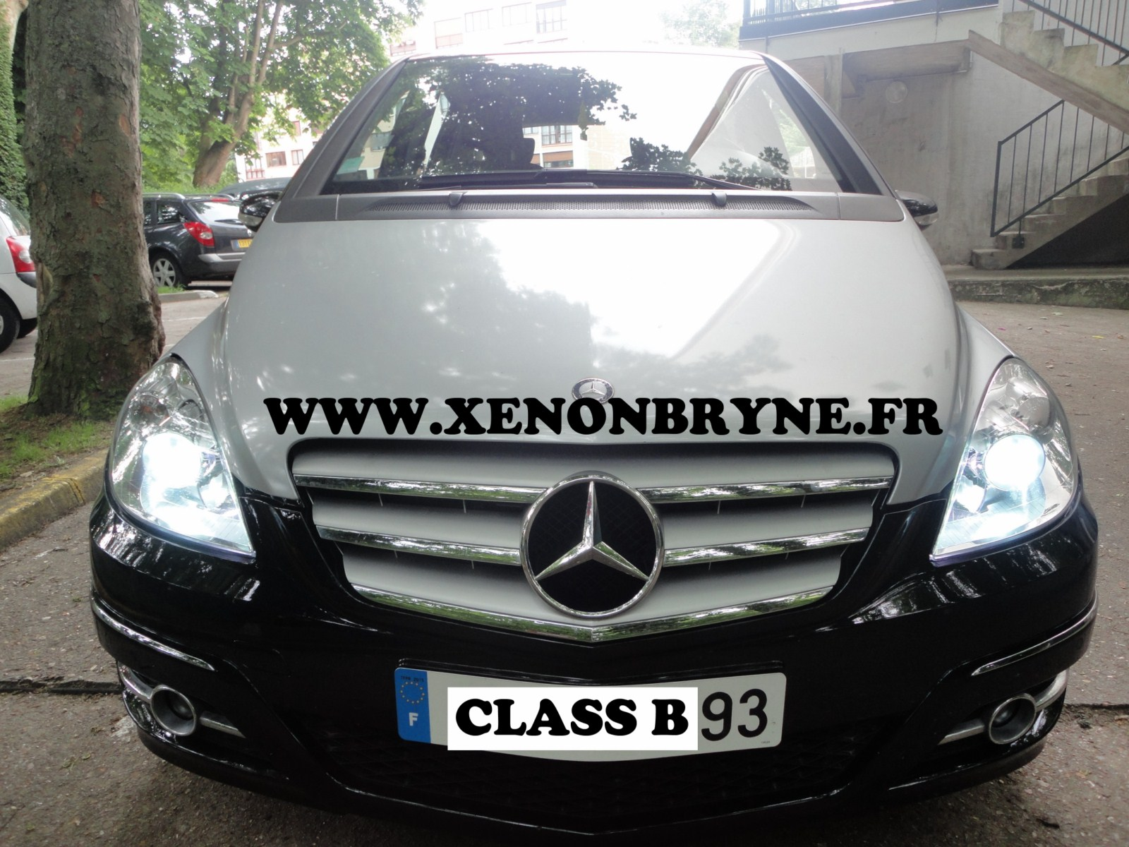 Photo de réalisation de l'installation kit xenon sur Mercedes Class B
