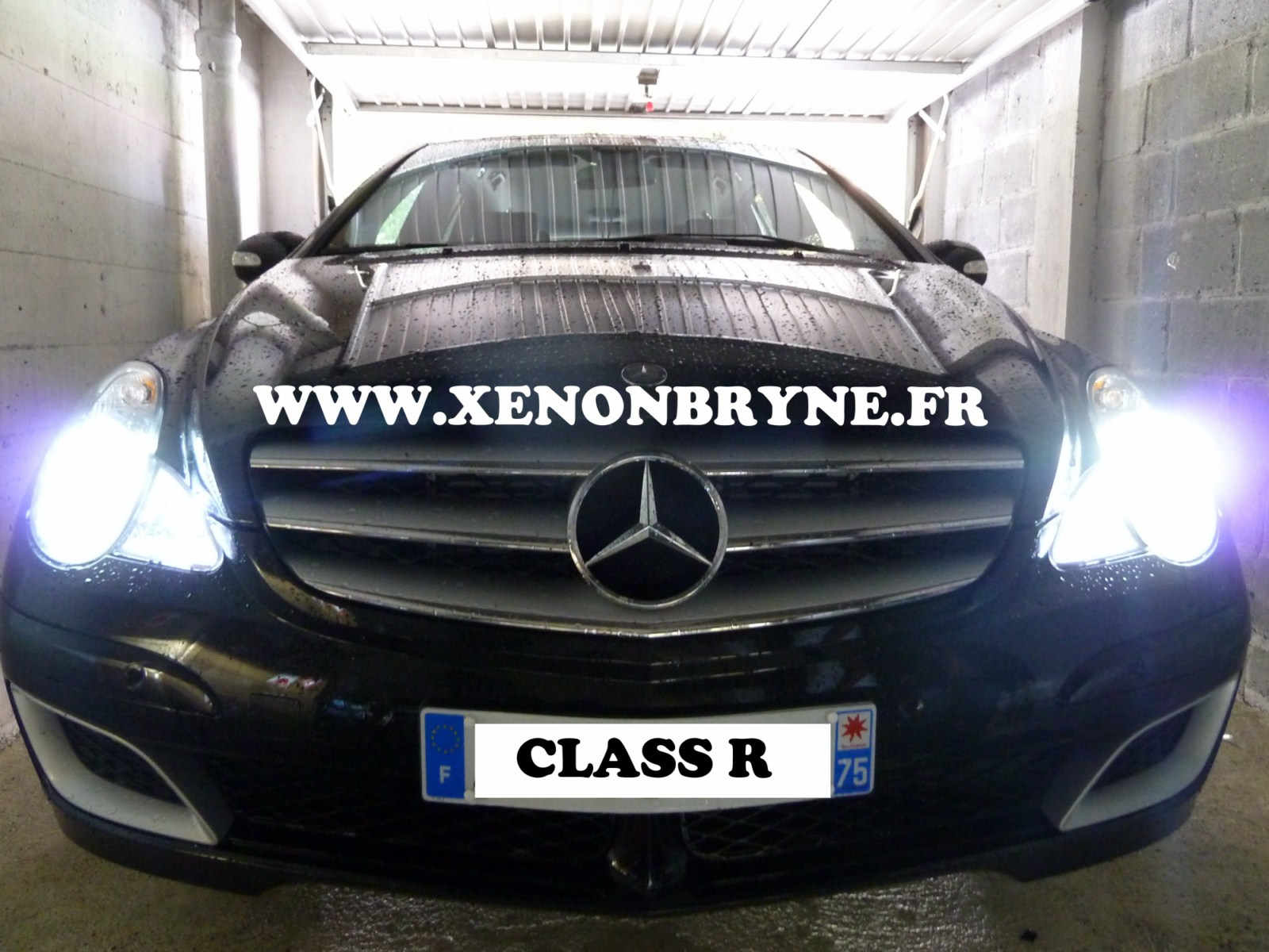 Photo de réalisation de l'installation kit xenon sur Mercedes Class R 2007